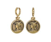 Серьги Style Avenue. Позолоченное серебро 925, бижутерный сплав (монета)