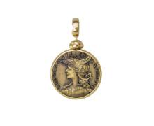 Кулон малый Style Avenue. Позолоченное серебро 925, бижутерный сплав (монета)