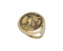 Кольцо Style Avenue. Позолоченное серебро 925, бижутерный сплав (монета)