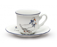 THUN. Фарфоровая чайная пара - гуси