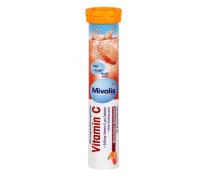 Mivolis. Шипучие таблетки витамина С со вкусом красного апельсина, 82 г