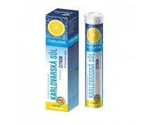 Сarlaine. Карловарская минеральная питьевая соль в шипучих таблетках со вкусом лимон - 20 штук