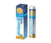 Сarlaine. Карловарская минеральная питьевая соль в шипучих таблетках со вкусом апельсина - 20 штук