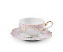 Чашка с блюдцем 0,20 л. . Коллекция ANTONIE DOT - Розовый