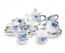 Чайный сервиз 15 предметов КОБАЛЬТОВЫЙ ЦВЕТОК