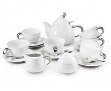 Чайный сервиз 15 предметов КЕЛЬТ ПЛАТИНОВЫЙ