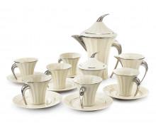 Чайный сервиз, 6 персон, 15 предметов ЕГИПЕТ ПЛАТИНОВЫЙ