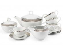 Чайный набор из 11 предметов АНГЕЛЬСКИЕ КРЫЛЬЯ серебро