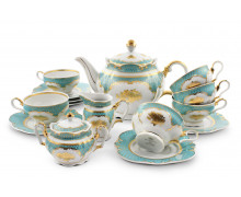 Чайный сервиз 15 предметов . Коллекция РОЗЫ ПОД ЗВЕЗДАМИ